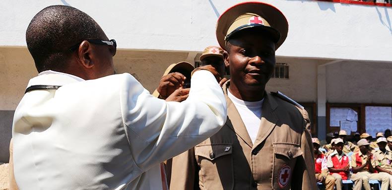 Cérémonie de collation des grades des officiers et subalternes en Gestion des Catastrophes à la Ville Province de Kinshasa