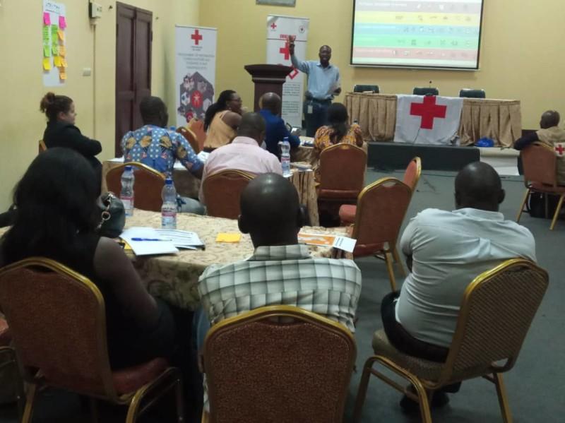 Session d'orientation de la préparation pour une intervention efficace PIE, Kinshasa 25-26 Février 2019, organisée par la Croix-Rouge de la R.D.C