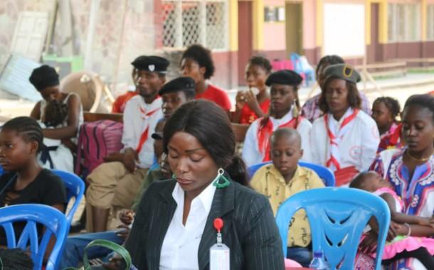 Don de la Croix-Rouge de la RDC à la Journée Mondiale de la lutte contre la drépanocytose au Centre Médico Social d'Anémie SS à Kintambo