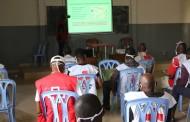 Les volontaires de la Croix-Rouge de la RDC ville de Kinshasa formés sur la Riposte contre le Covid-19.